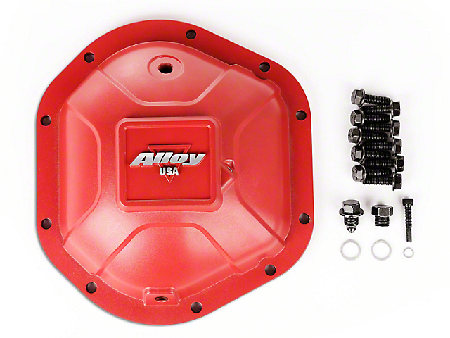 Alloy USA Dana 44 Aluminum Differential Cover; Red (87-06 Jeep Wrangler YJ & TJ)