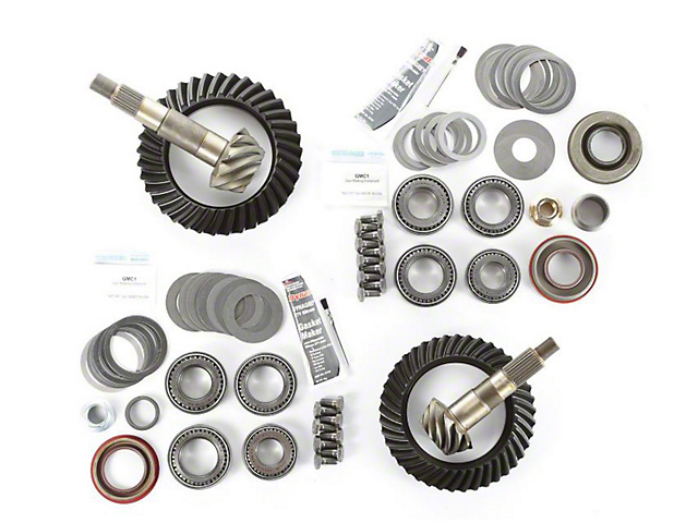 Alloy USA Dana 30 Front Axle/35 Rear Axle Ring and Pinion Gear Kit with Master Overhaul Kit; 4.10 Gear Ratio (97-06 Jeep Wrangler TJ)
