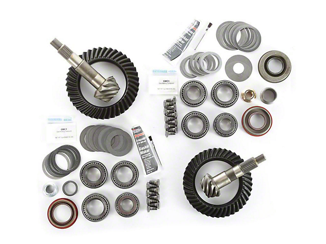 Alloy USA Dana 30 Front Axle/35 Rear Axle Ring Gear and Pinion Kit w/ Master Overhaul Kit - 4.56 Gears (97-06 Jeep Wrangler TJ)