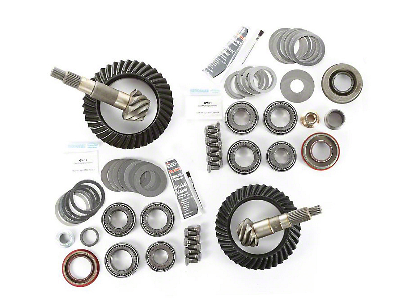 Alloy USA Dana 30 Front Axle/35 Rear Axle Ring and Pinion Gear Kit with Master Overhaul Kit; 4.88 Gear Ratio (97-06 Jeep Wrangler TJ)