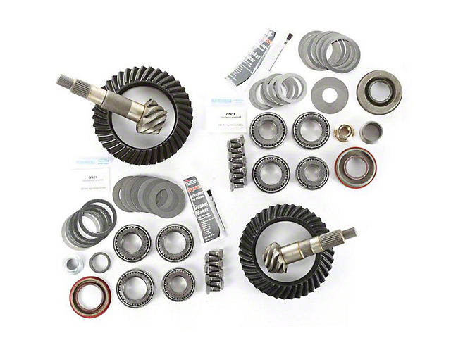 Alloy USA Dana 30 Front Axle/35 Rear Axle Ring Gear and Pinion Kit w/ Master Overhaul Kit - 4.88 Gears (97-06 Jeep Wrangler TJ)