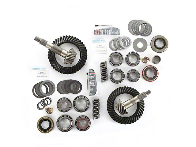 Alloy USA Dana 30 Front Axle/44 Rear Axle Ring Gear and Pinion Kit w/ Master Overhaul Kit - 3.73 Gears (97-06 Jeep Wrangler TJ)