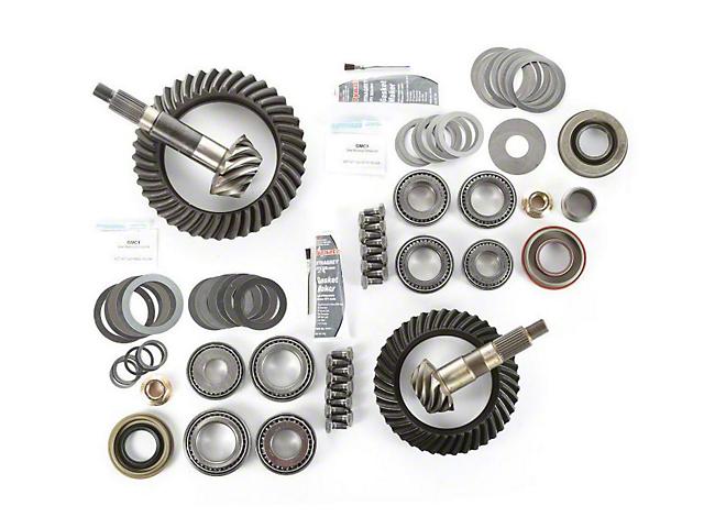 Alloy USA Dana 30 Front Axle/44 Rear Axle Ring Gear and Pinion Kit w/ Master Overhaul Kit - 4.10 Gears (97-06 Jeep Wrangler TJ)