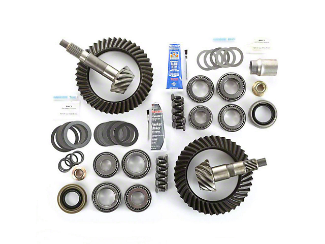 Alloy USA Dana 44 Front Axle/44 Rear Axle Ring Gear and Pinion Kit w/ Master Overhaul Kit - 4.10 Gears (97-06 Jeep Wrangler TJ)