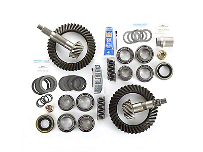Alloy USA Dana 44F/44R Ring Gear and Pinion Kit w/ Master Overhaul Kit - 4.10 Gears (97-06 Jeep Wrangler TJ)