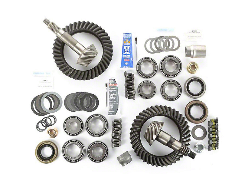 Alloy USA Dana 44 Front Axle/44 Rear Axle Ring Gear and Pinion Kit w/ Master Overhaul Kit - 3.73 Gears (97-06 Jeep Wrangler TJ)