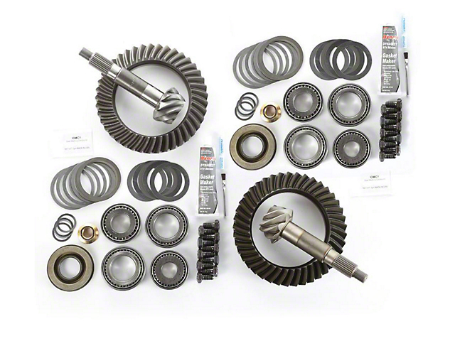 Alloy USA Dana 44 Front Axle/44 Rear Axle Ring Gear and Pinion Kit w/ Master Overhaul Kit - 5.13 Gears (97-06 Jeep Wrangler TJ)