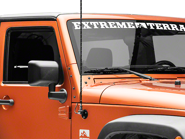Rugged Ridge CB/AM/FM Antenna Mount Kit (97-18 Jeep Wrangler TJ & JK)