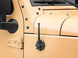 Rugged Ridge Elite Antenna Base with 6-Inch Reflex Antenna (07-20 Jeep Wrangler JK & JL)