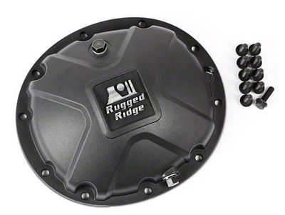 Rugged Ridge Dana 35 Boulder Aluminum Differential Cover - Black (87-06 Jeep Wrangler YJ & TJ)