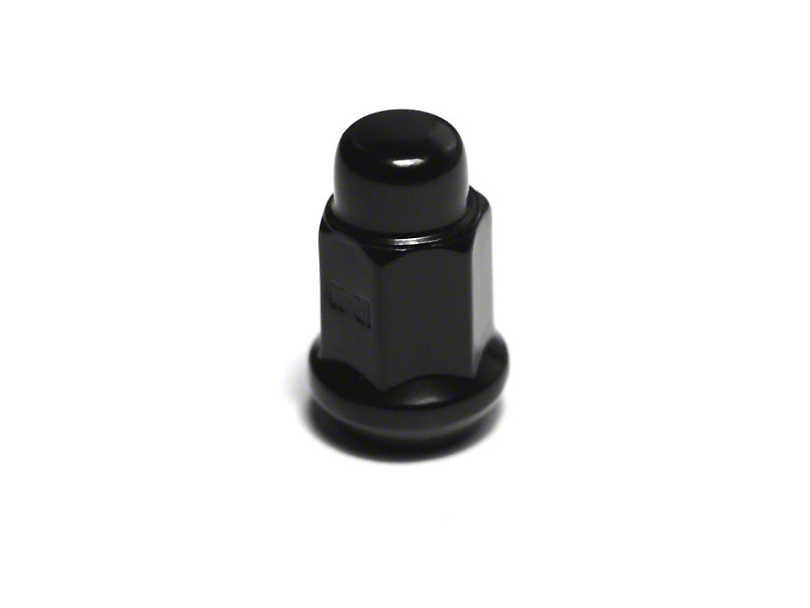 Rugged Ridge Black Acorn Lug Nut - 1/2 in. x 20 (07-18 Jeep Wrangler JK)