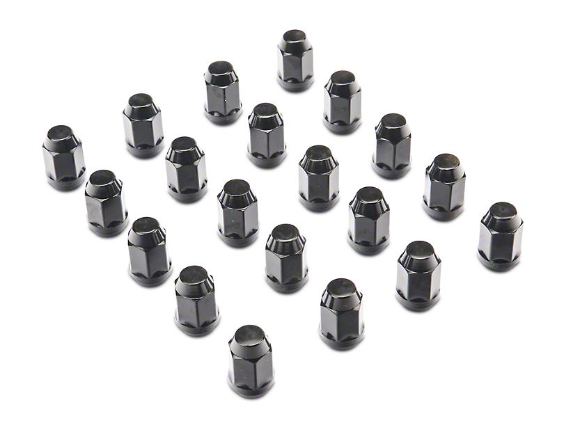 Rugged Ridge Black Acorn Lug Nut Kit - 1/2 in. x 20 (07-18 Jeep Wrangler JK)