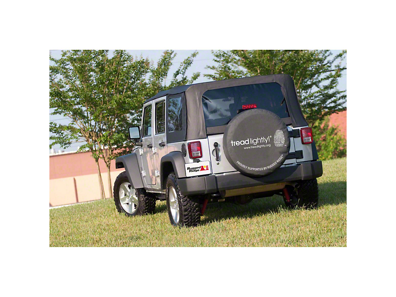 Rugged Ridge Tread Lightly Edition Tire Cover (87-19 Jeep Wrangler YJ, TJ, JK & JL)