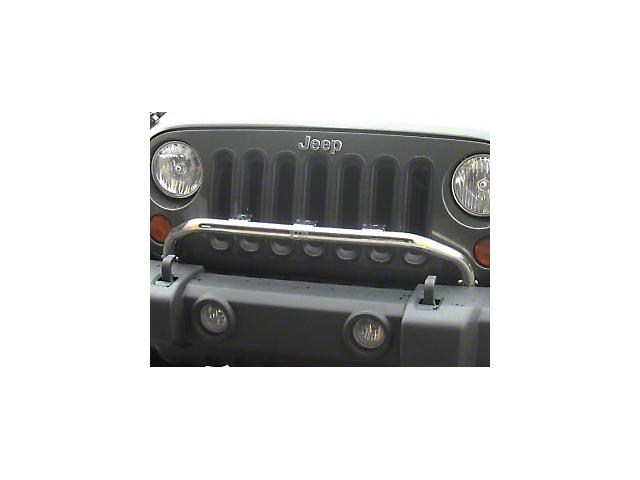 Rugged Ridge Bumper Mounted Light Bar - Stainless Steel (07-18 Jeep Wrangler JK)