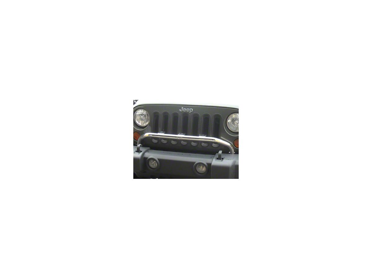 Rugged Ridge Bumper Mounted Light Bar - Stainless Steel (07-18 Jeep on