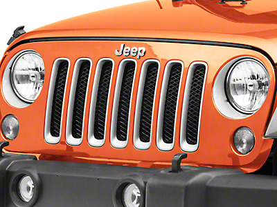 Rugged Ridge Mesh Grille Insert - Gloss Black (07-18 Jeep Wrangler JK)