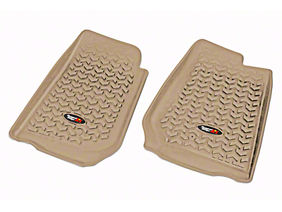 Rugged Ridge All-Terrain Front Floor Liners for RHD - Tan (07-18 Jeep Wrangler JK)