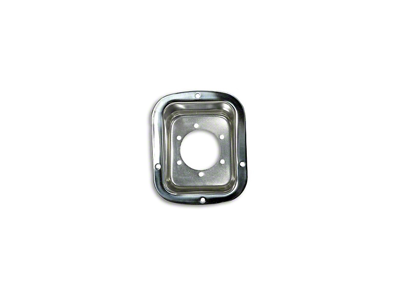 Rugged Ridge Fuel Filler Bezel - Stainless Steel (87-95 Jeep Wrangler YJ)