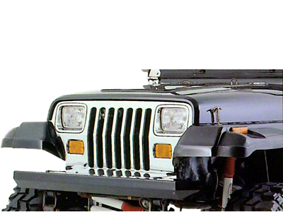 Rugged Ridge Rock Crawler Front Bumper - Black (87-06 Wrangler YJ & TJ)