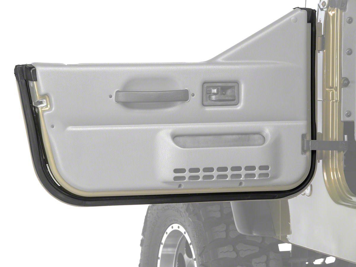 New Driver//Left Side Half Door Weatherstrip Seal for Jeep Wrangler 1997-2006