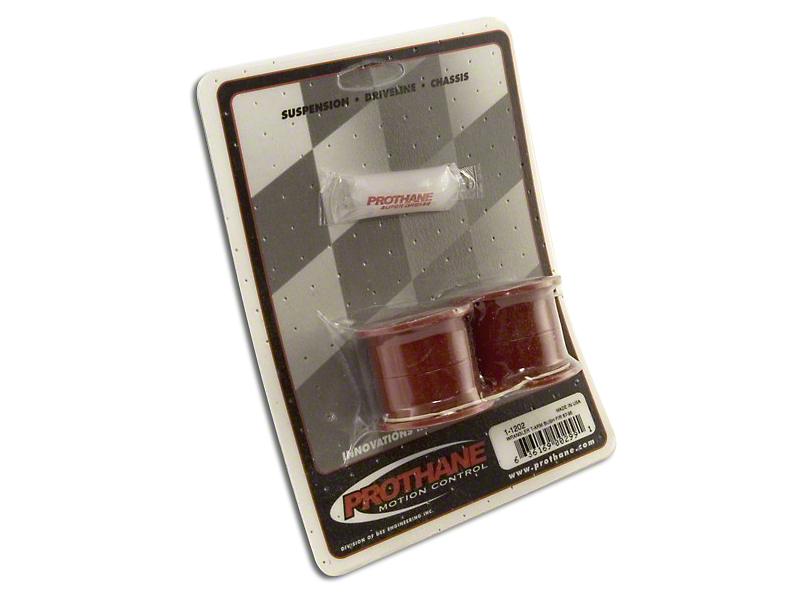 Rugged Ridge Rear Track Bar Bushing Kit; Red (87-95 Jeep Wrangler YJ)