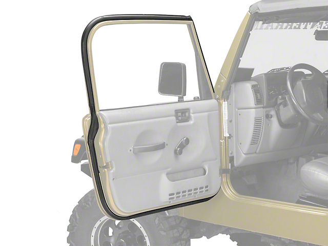 Omix-ADA Driver Outer Door Weather Stripping (97-06 Wrangler TJ w/ Full Doors)  sc 1 st  Extreme Terrain & Omix-ADA Wrangler Driver Outer Door Weather Stripping 12303.13 (97 ...