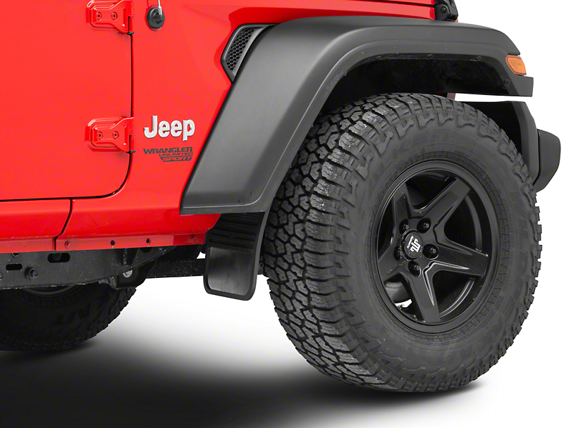 Husky MudDog Front Mud Flaps w/ Stainless Steel Weight (87-19 Jeep Wrangler YJ, TJ, JK & JL)