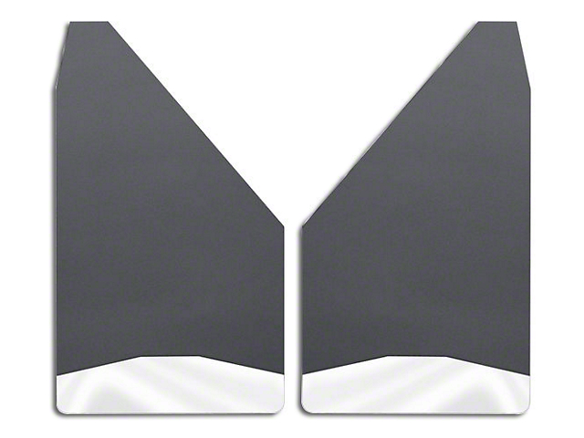 Husky 14 in. Wide Mud Flaps - Stainless Steel Weight (Universal Fitment)