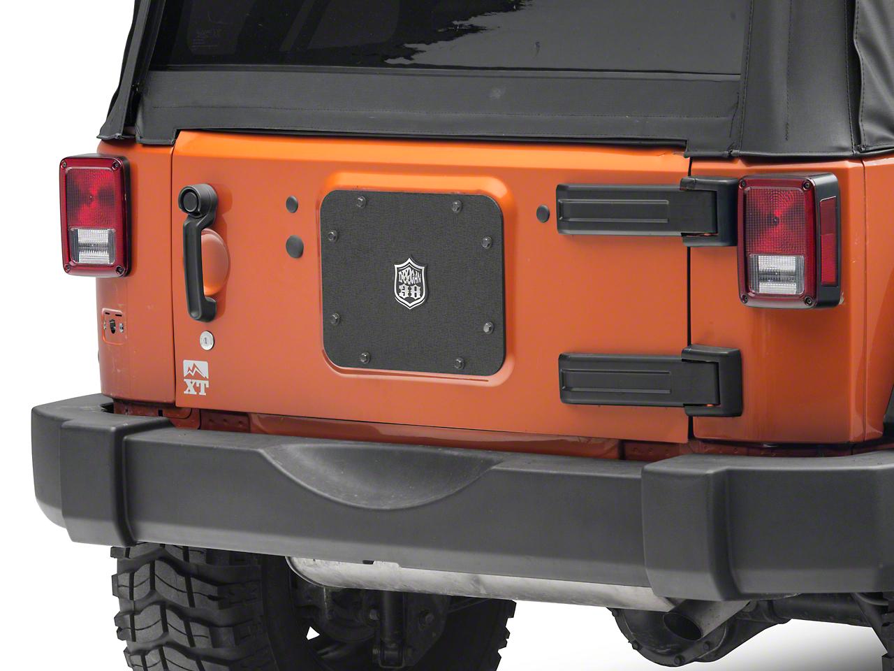 Deegan 38 Spare Tire Delete w/ License Plate Mount (07-18 Jeep Wrangler JK)