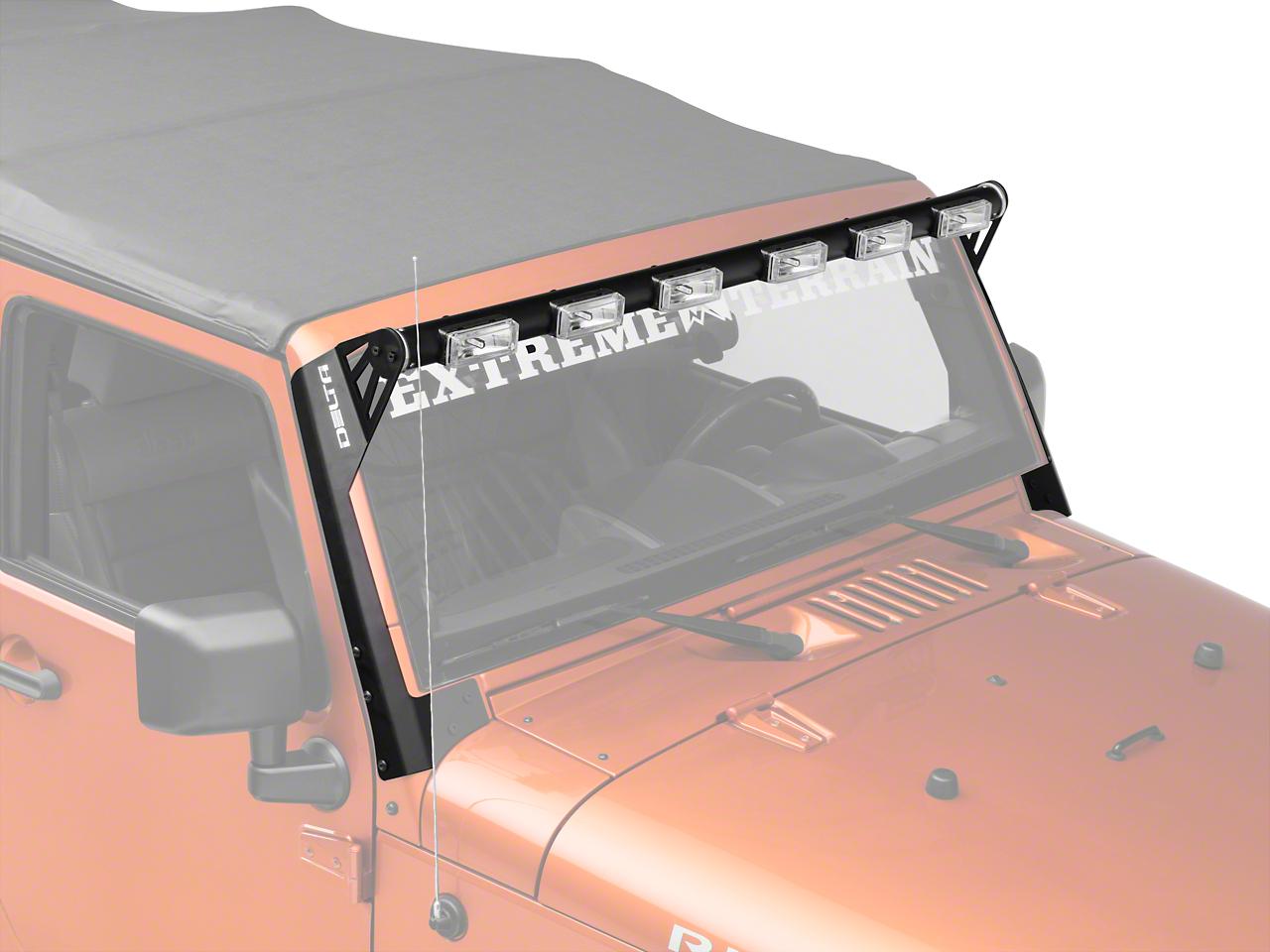 Delta 52 inch Shield Tubular Long Range LED Light Bar w/ Mounting Brackets (07-18 Wrangler JK; 2018 Wrangler JL)