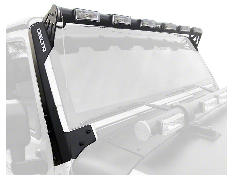 Delta 52 in. Shield Tubular Long Range LED Light Bar w/ Blinkers & Mounting Brackets (07-20 Jeep Wrangler JK & JL)