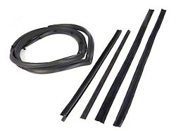 Door Weatherstrip Kit for Hard Doors with Moveable Vent Windows; Driver Side (87-95 Jeep Wrangler YJ)