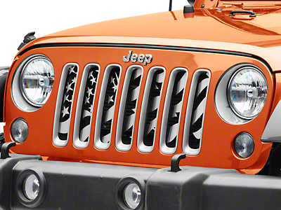 ACC Star Spangle Style Grille Insert - Brushed (07-18 Wrangler JK)