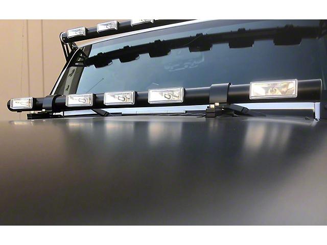 Delta Tubular Hood Mounted LED Light Bar (07-19 Jeep Wrangler JK & JL)