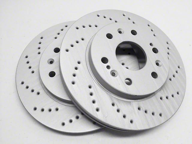 SP Performance Cross-Drilled Rotors w/ Gray ZRC - Rear Pair (07-18 Jeep Wrangler JK)