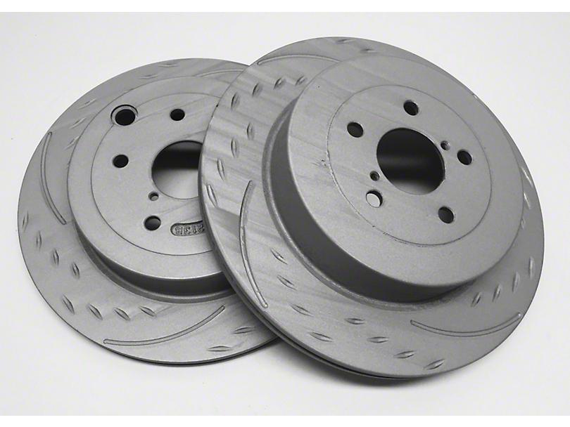 SP Performance Diamond Slot Rotors w/ Gray ZRC - Front Pair (07-18 Jeep Wrangler JK)