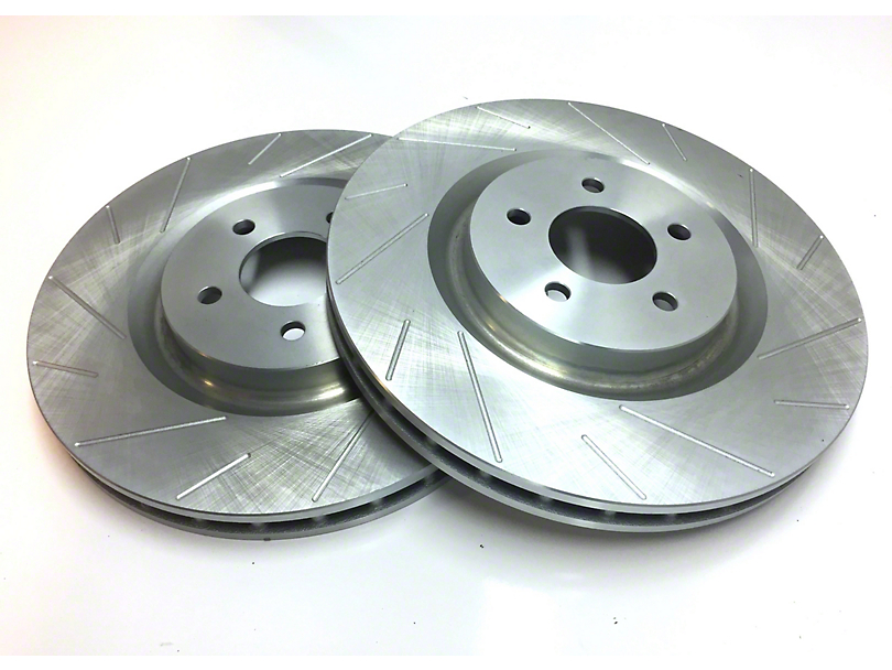 SP Performance Slotted Rotors w/ Gray ZRC - Front Pair (87-06 Jeep Wrangler YJ & TJ)