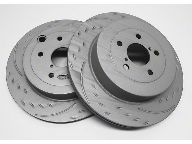 SP Performance Slotted Rotors w/ Gray ZRC - Rear Pair (03-06 Jeep Wrangler TJ)