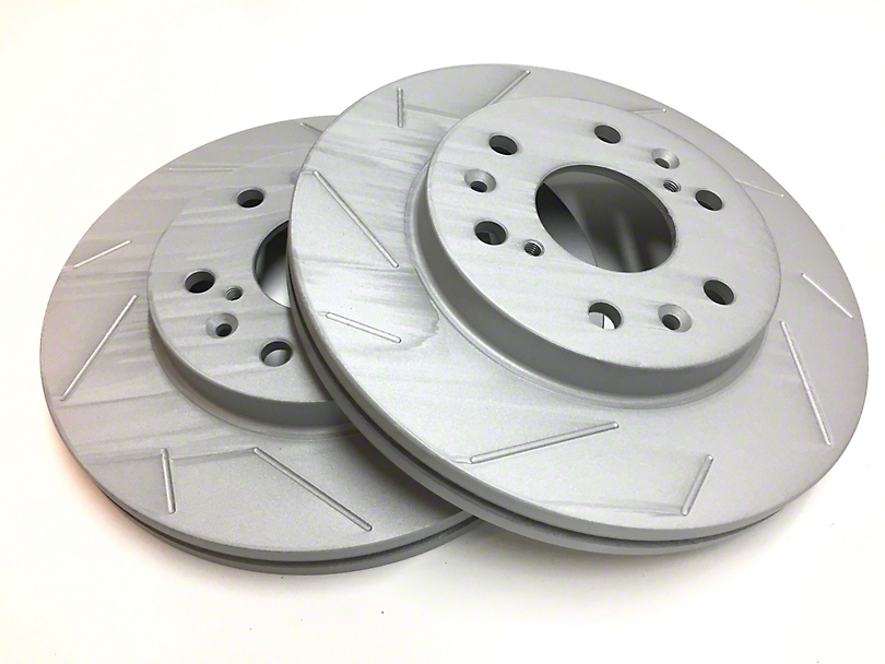 SP Performance Slotted Rotors w/ Gray ZRC - Rear Pair (07-18 Jeep Wrangler JK)