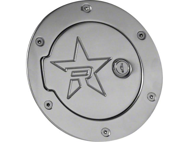 RBP RX-2 Locking Fuel Door; Polished (97-06 Jeep Wrangler TJ)