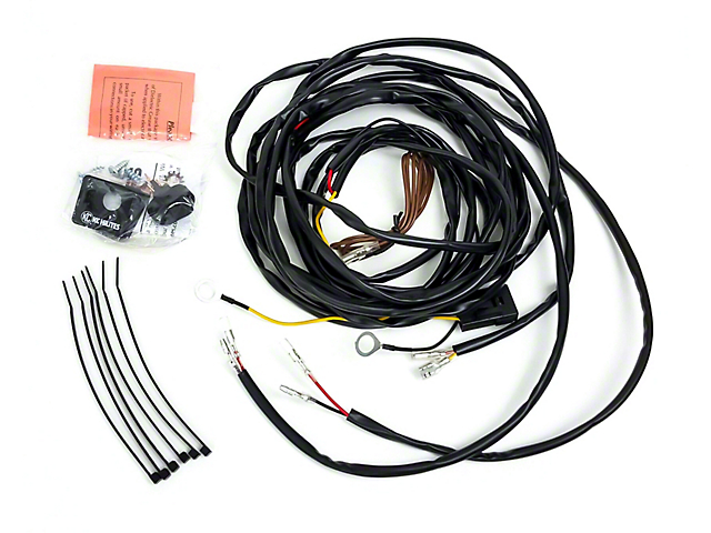 KC HiLiTES Jeep Wrangler Wiring Harness for 2 Cyclone LED