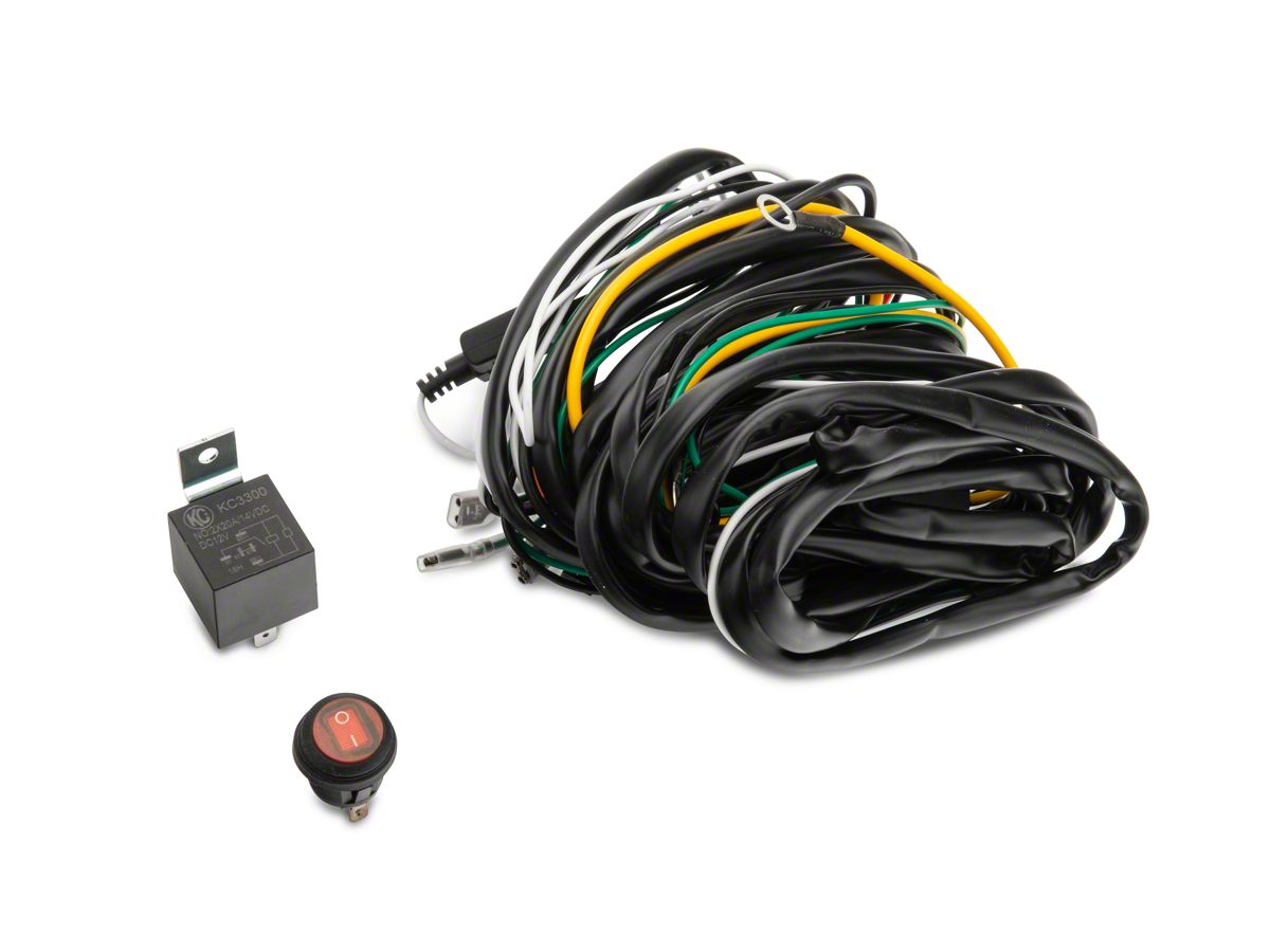 KC HiLiTES Jeep Wrangler Wiring Harness w/ 40 AMP Relay & LED Rocker Switch  6315Extreme Terrain