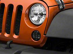 Axial LED Front Turn Signals; Smoked (07-18 Jeep Wrangler JK)