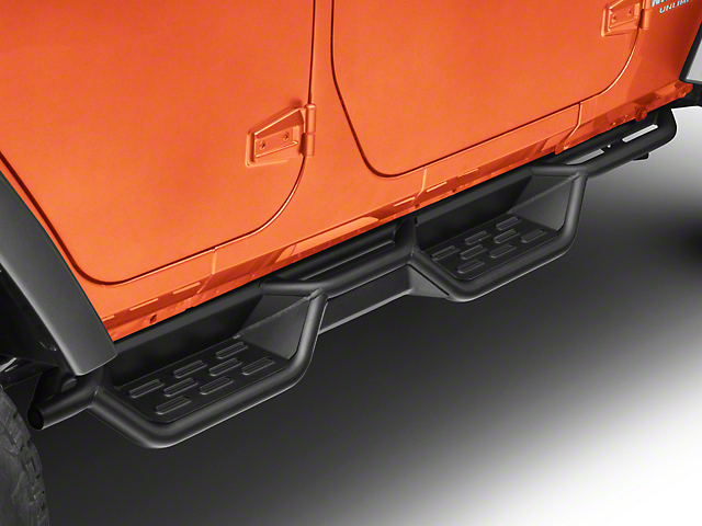 RedRock 4x4 HD Drop Side Step Bars (07-18 Jeep Wrangler JK 4 Door)