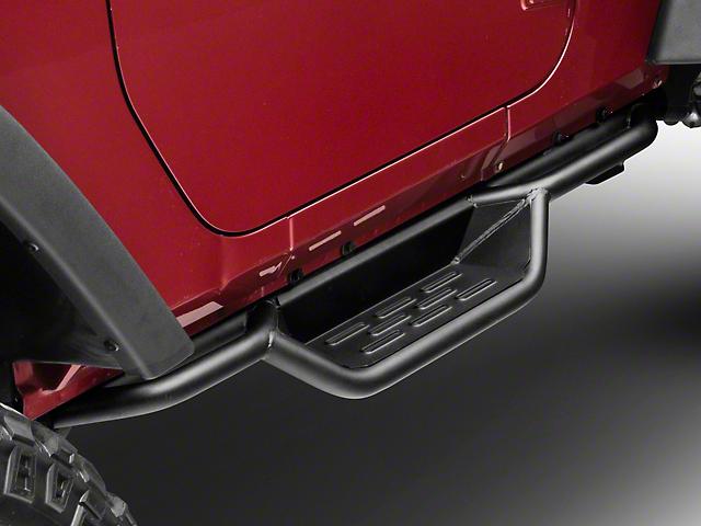 RedRock 4x4 HD Drop Side Step Bars (07-18 Jeep Wrangler JK 2 Door)