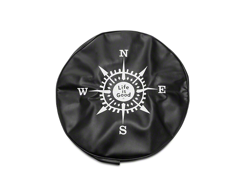 Life is Good Compass Space Tire Cover (87-19 Jeep Wrangler YJ, TJ, JK & JL)