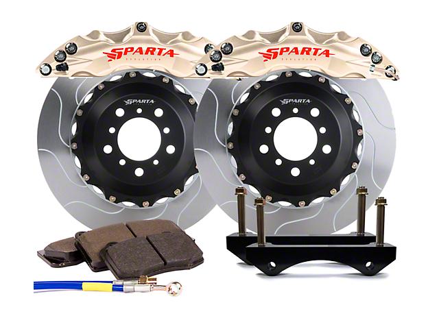 Sparta Evolution Triton Front Big Brake Kit; Nickel Alloy Calipers (07-18 Jeep Wrangler JK)