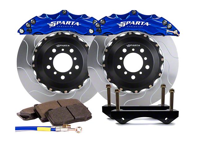 Sparta Evolution Triton Front Big Brake Kit; Signature Blue Calipers (07-18 Jeep Wrangler JK)