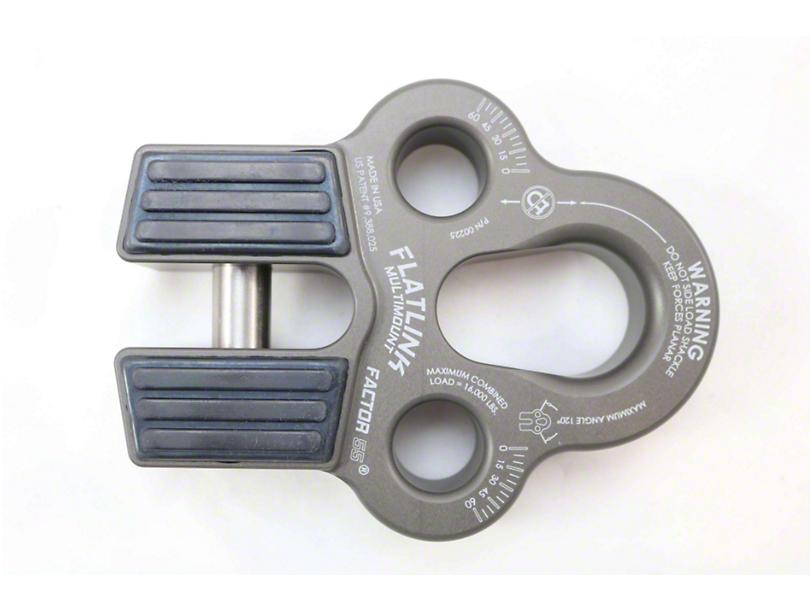 Factor 55 FlatLink Multimount Winch Shackle Mount - Gray
