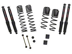 SkyJacker 1 to 1.50-Inch Dual Rate Long Travel Suspension Lift Kit with Black MAX Shocks (18-21 2.0L or 3.6L Jeep Wrangler JL Rubicon 4-Door)